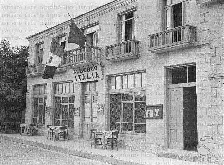 """FOTO historike/ Hotel """"Italia"""", Kukesi i vjeter 1940"""